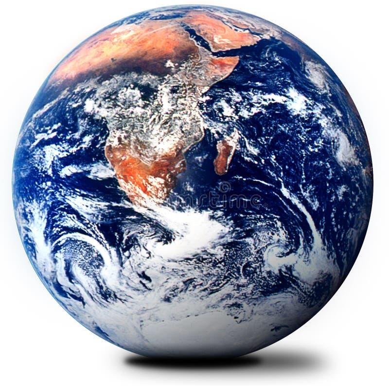 O globo no branco ilustração stock