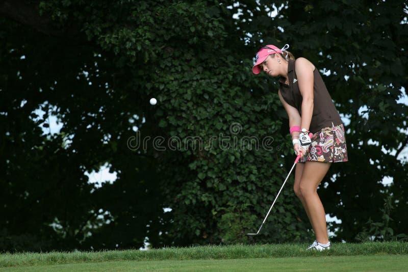 O golfe de Evian da desnatadeira de Paula domina 2006 imagens de stock