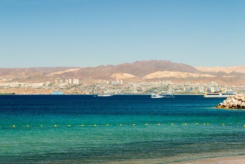 O Golfo de Aqaba foto de stock