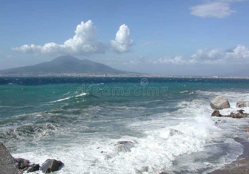 O Golfo De Nápoles, Italy Imagens de Stock Royalty Free