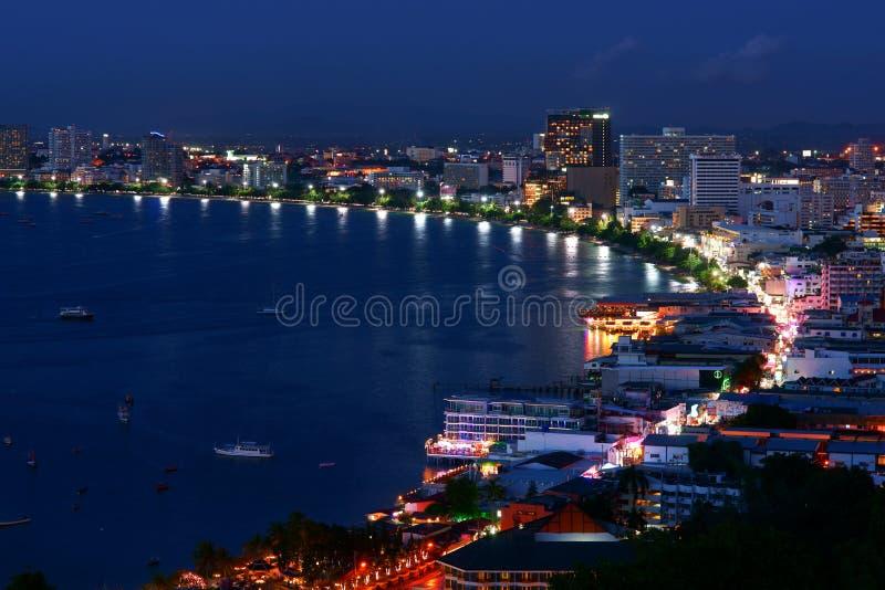 O golfo de Pattaya fotos de stock royalty free