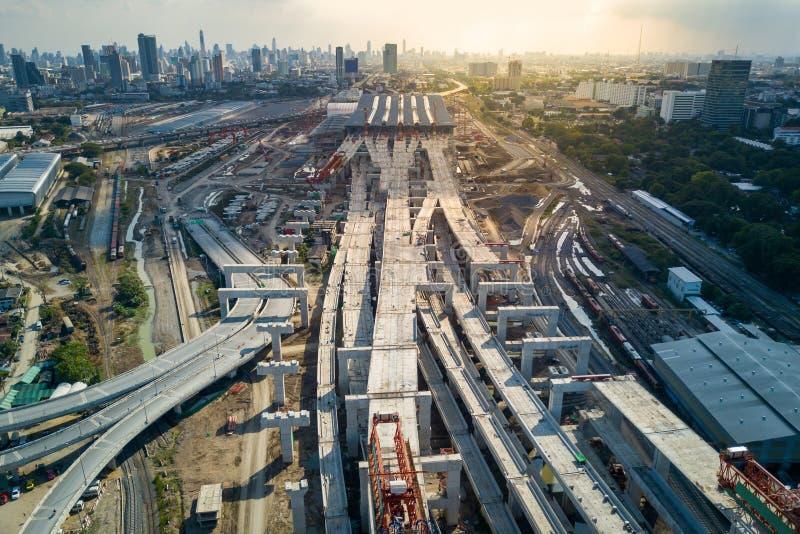 O golpe processa a estação central, cubo da estrada de ferro de Banguecoque imagens de stock royalty free