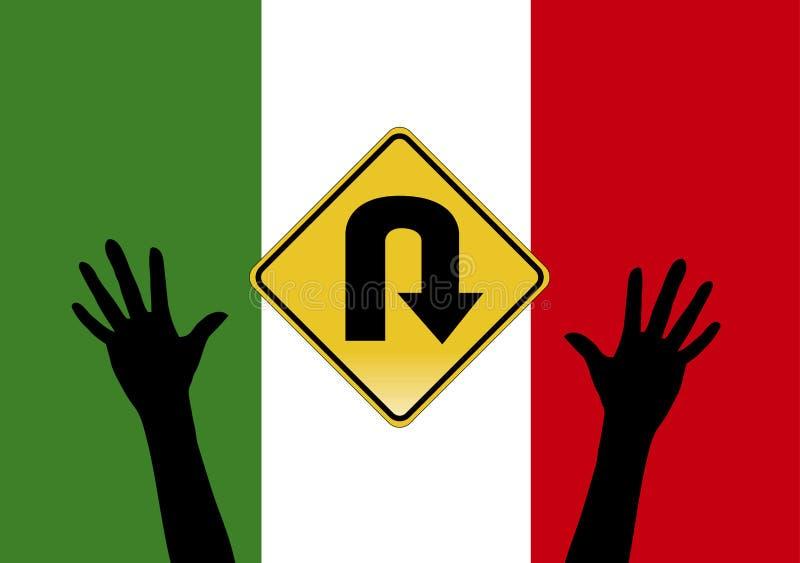 O governo italiano aperta leis do asilo ilustração stock