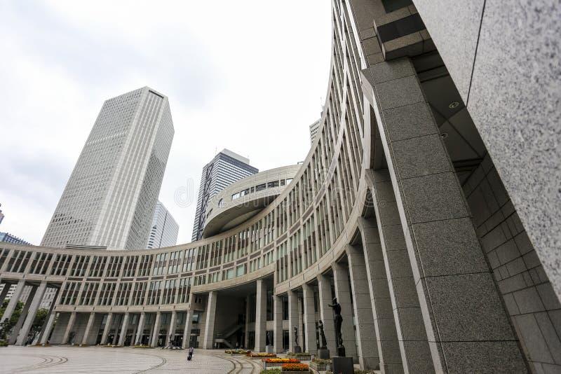 O governo metropolitano do Tóquio que constrói igualmente referiu como Tocho para breve no alvorecer imagem de stock royalty free