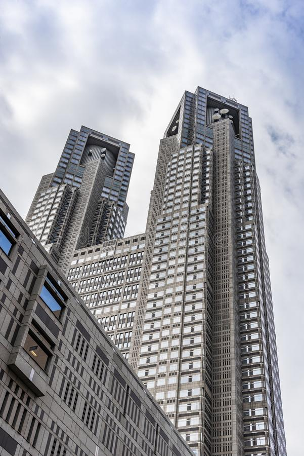 O governo metropolitano do Tóquio que constrói Japão imagem de stock