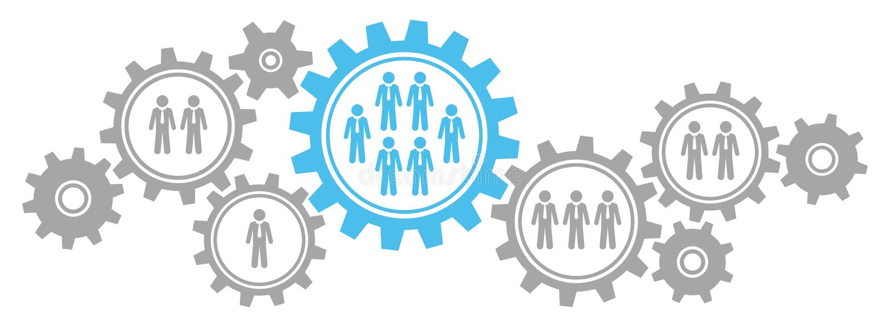 O gráfico alinha homens de negócio Gray And Blue da beira ilustração stock