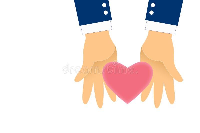 O gráfico dá o coração para você no fundo branco O coração do rosa do isolado à disposição com trajetos mergulha para a seleção ilustração stock
