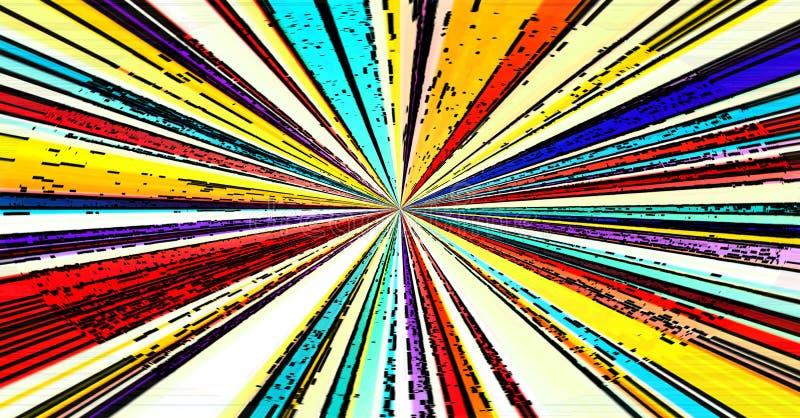 O gráfico da explosão de Ray listra a linha de cor ilustração royalty free