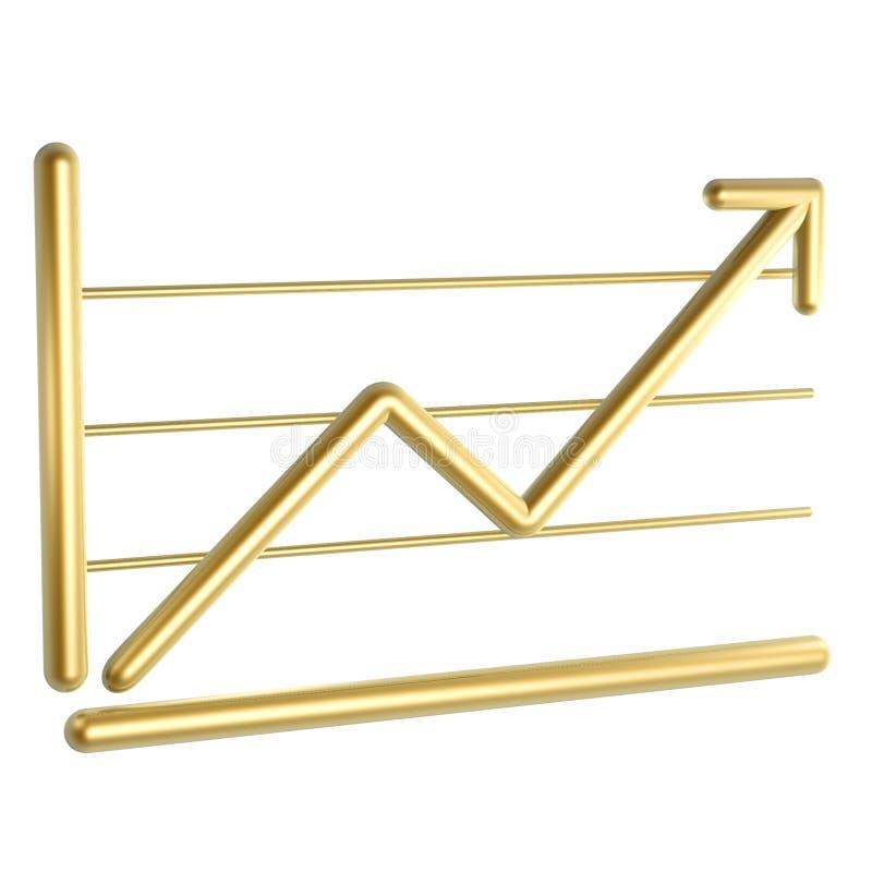 O gráfico de negócio cresce acima ilustração do vetor