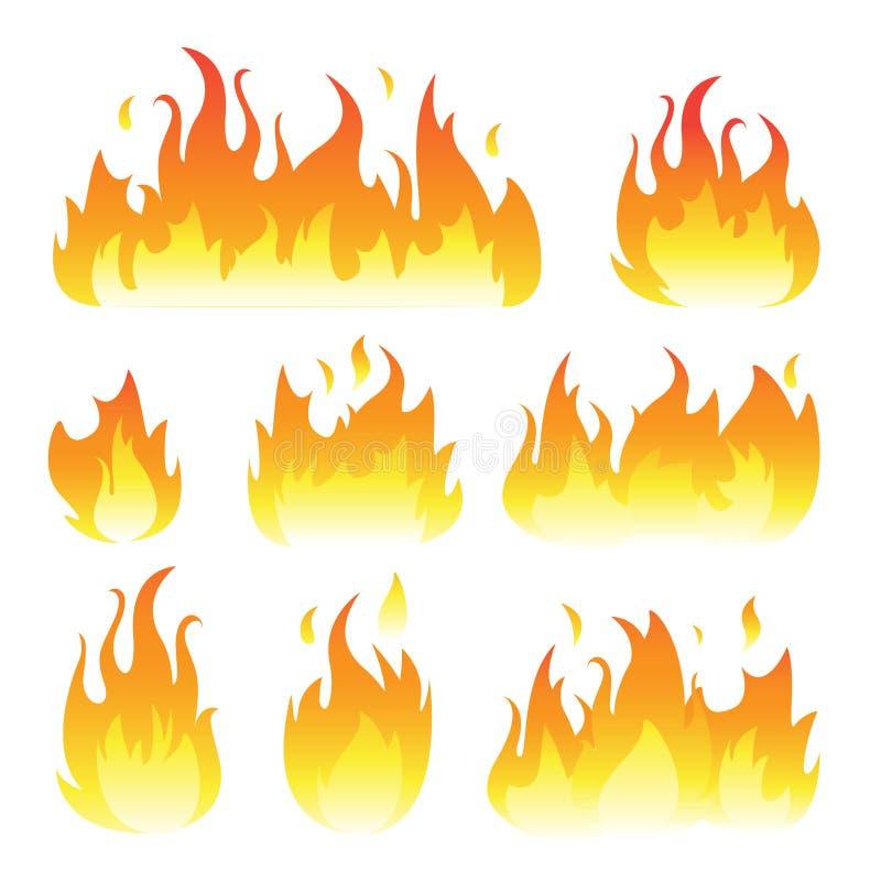 O gráfico de vetor arde a ilustração isolada no branco ilustração stock