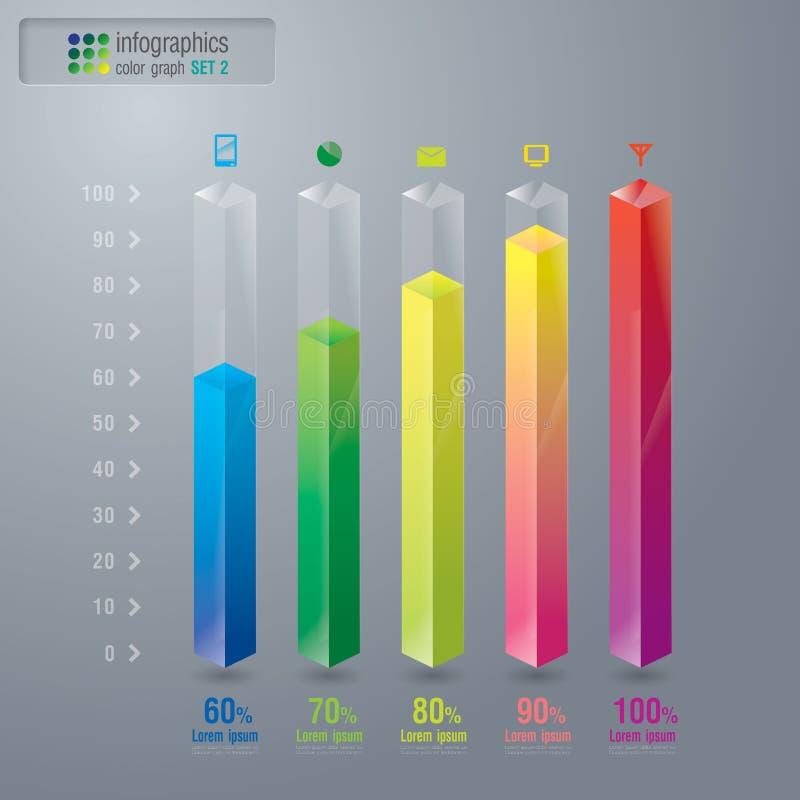 O gráfico digital abstrato da ilustração 3D ajustou 2. ilustração stock