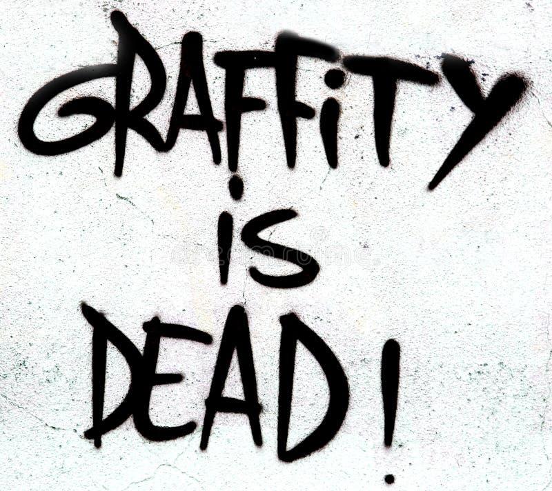 O grafitti é sinal inoperante imagem de stock