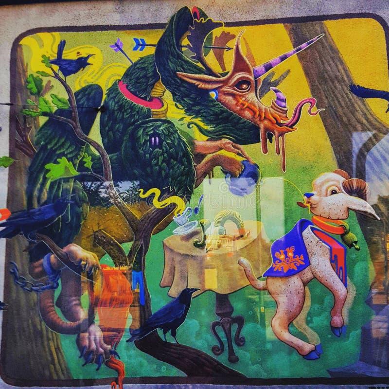 O grafitti colore a fantasia louca foto de stock