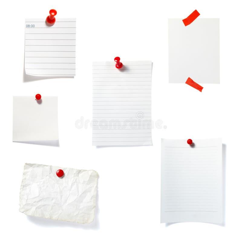 O grampo vermelho anota o grupo do escritório de negócio foto de stock royalty free