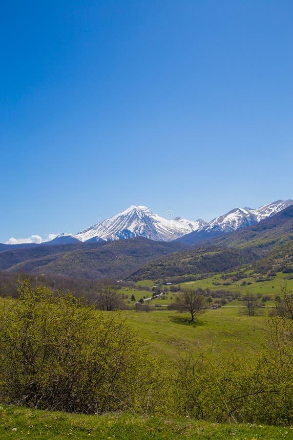 O Gran Sasso Abruzzo Italy foto de stock