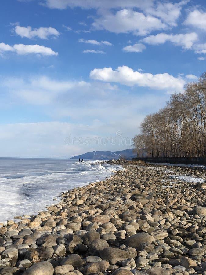 O grande Lago Baikal imagens de stock royalty free