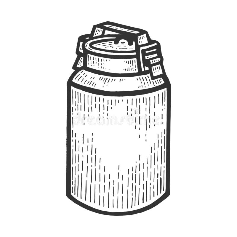 O grande leite pode esboçar a gravação do vetor ilustração do vetor