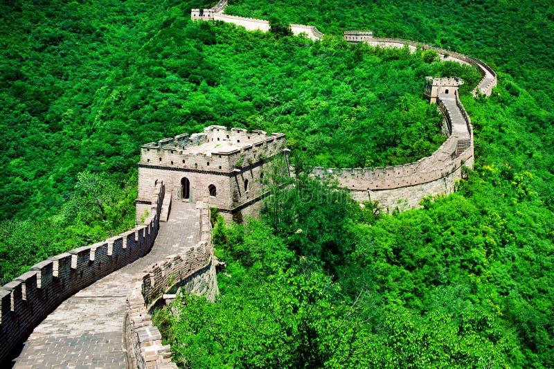 O Grande Muralha de China O Grande Muralha de China é uma série de forte imagens de stock