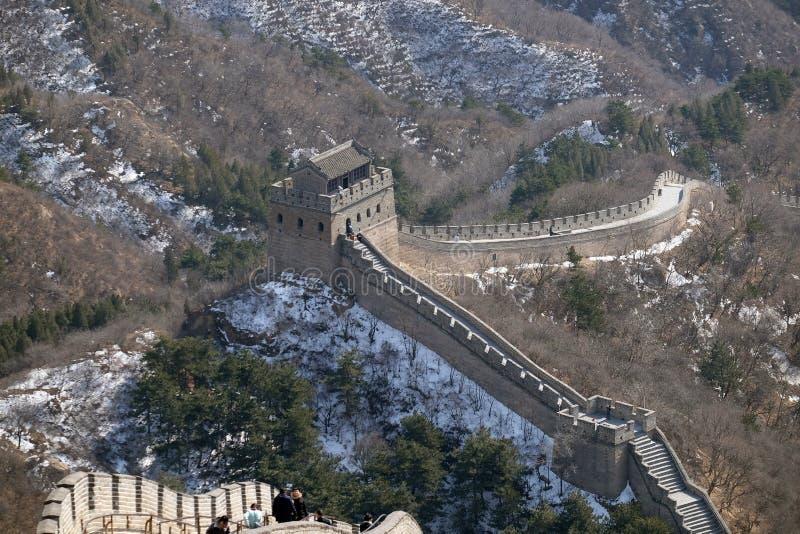 O Grande Muralha de China em Badaling, China fotografia de stock