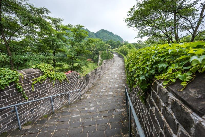 O Grande Muralha de China em Dandong imagem de stock