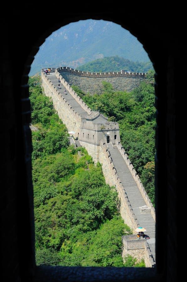 O Grande Muralha de China Grande Muralha de Mutianyu imagem de stock