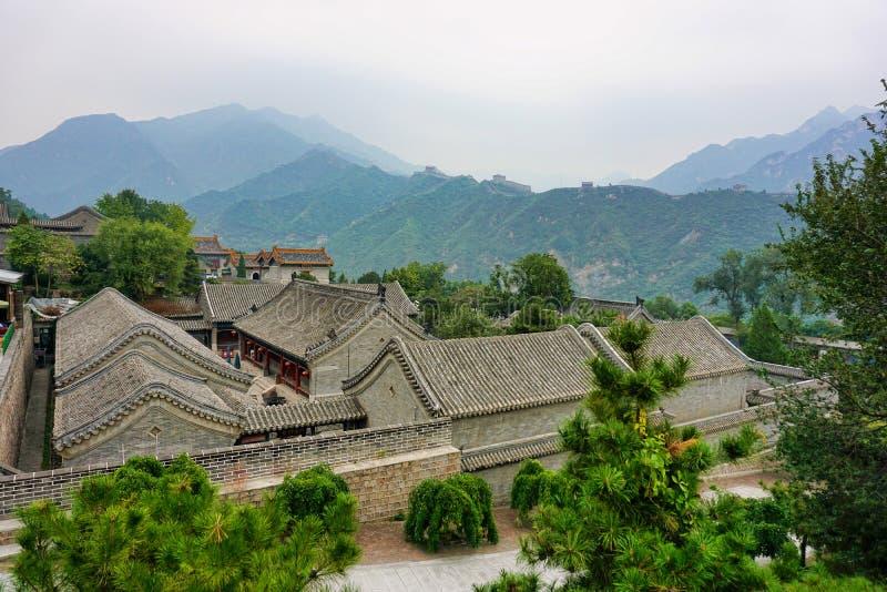 O Grande Muralha de China no Pequim fotografia de stock