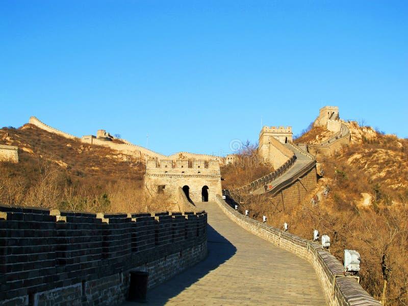 O Grande Muralha de China (Pequim, China) fotos de stock royalty free