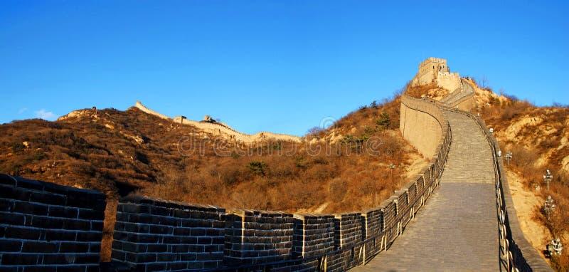 O Grande Muralha de China (Pequim, China) imagens de stock
