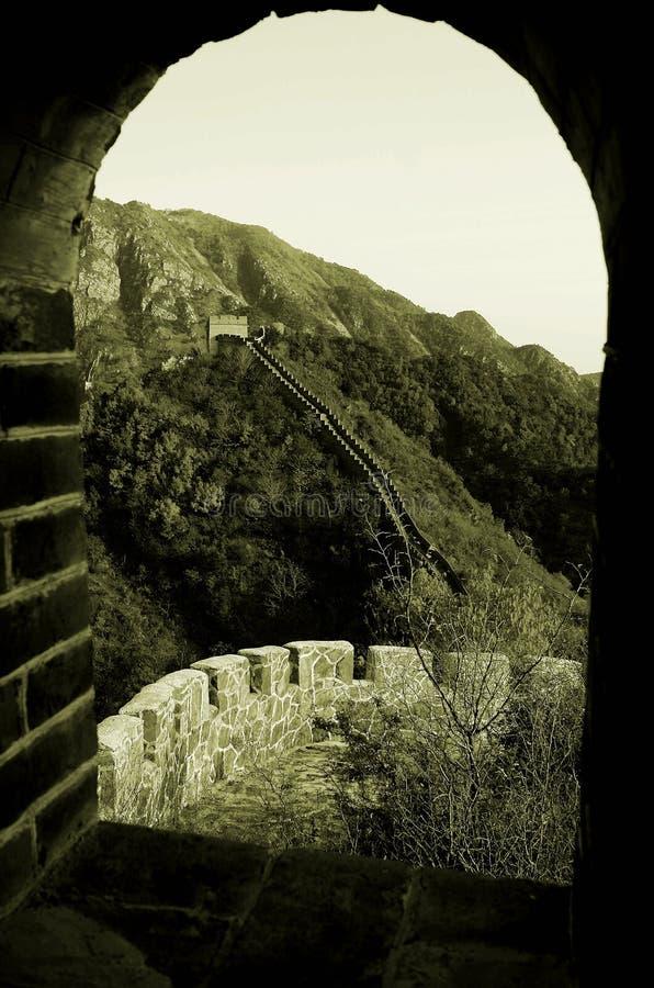 O Grande Muralha em Huangyaguan fotos de stock royalty free