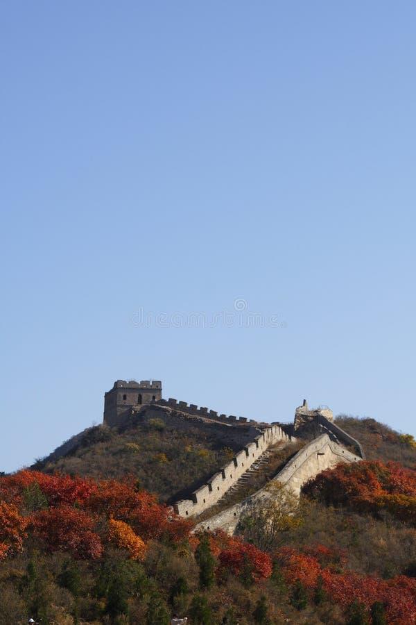 O Grande Muralha na porcelana foto de stock