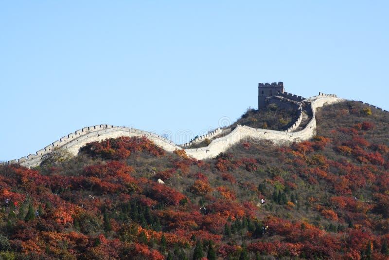 O Grande Muralha na porcelana imagens de stock
