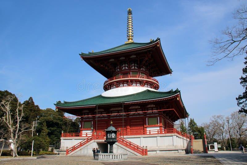 O grande pagode da paz, Narita foto de stock