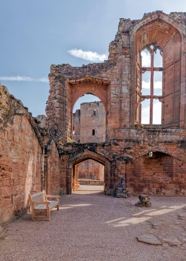 O grande salão, castelo de Kenilworth, Warwickshire imagens de stock