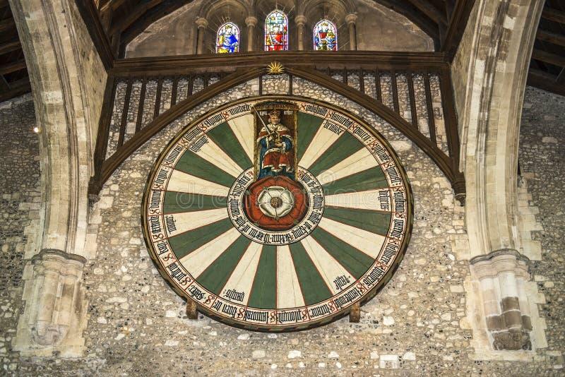 O grande salão do castelo de Winchester em Hampshire, Inglaterra fotos de stock royalty free