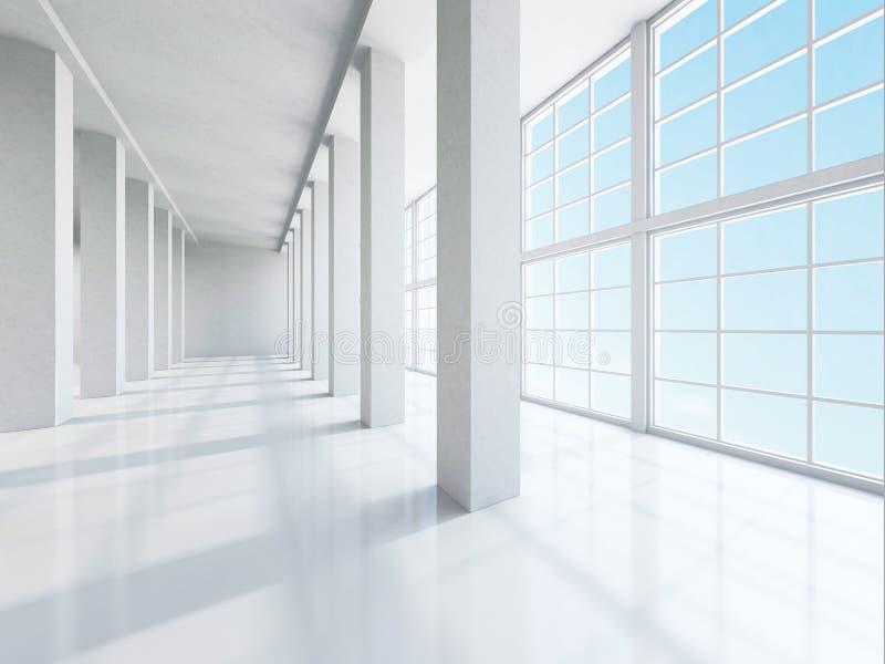 O grande salão vazio ilustração royalty free