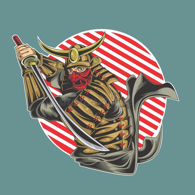 O grande samurai ilustração do vetor