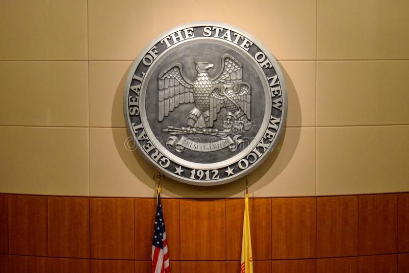O grande selo do estado de New mexico fotos de stock