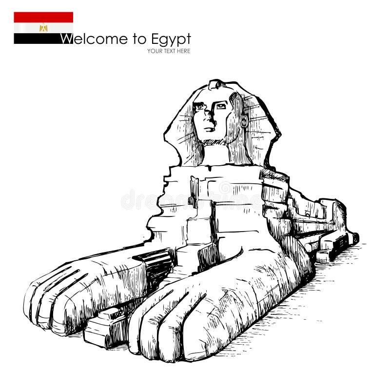O grande Sphinx ilustração do vetor