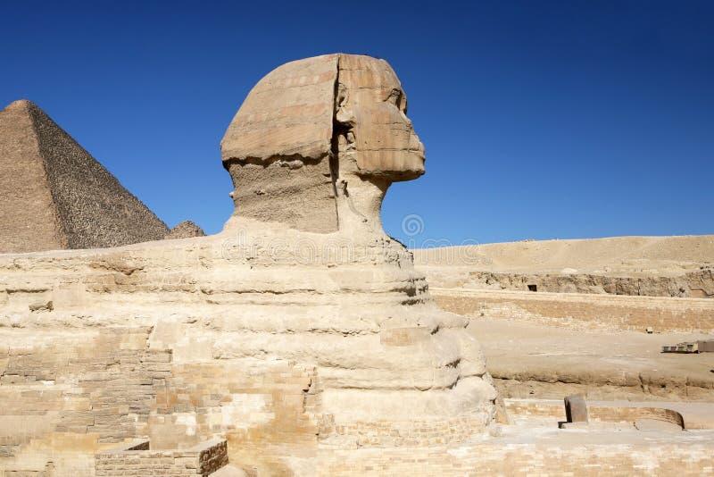 O grande Sphinx de Giza perto do Cairo, Egipto. Parte 2 foto de stock