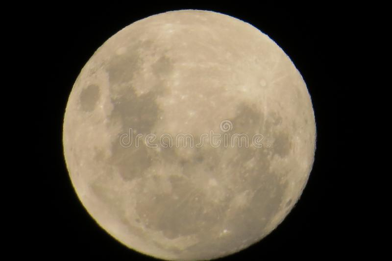 O grande Supermoon foto de stock