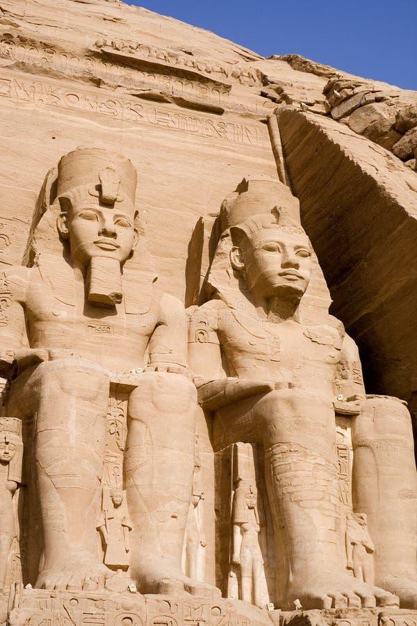 O grande templo de Abu Simbel imagens de stock royalty free