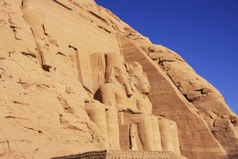 O grande templo de Abu Simbel, Nubia imagem de stock royalty free