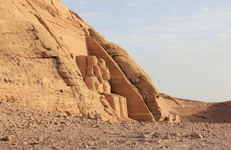 O grande templo de Ramesses II Abu Simbel, Egipto foto de stock