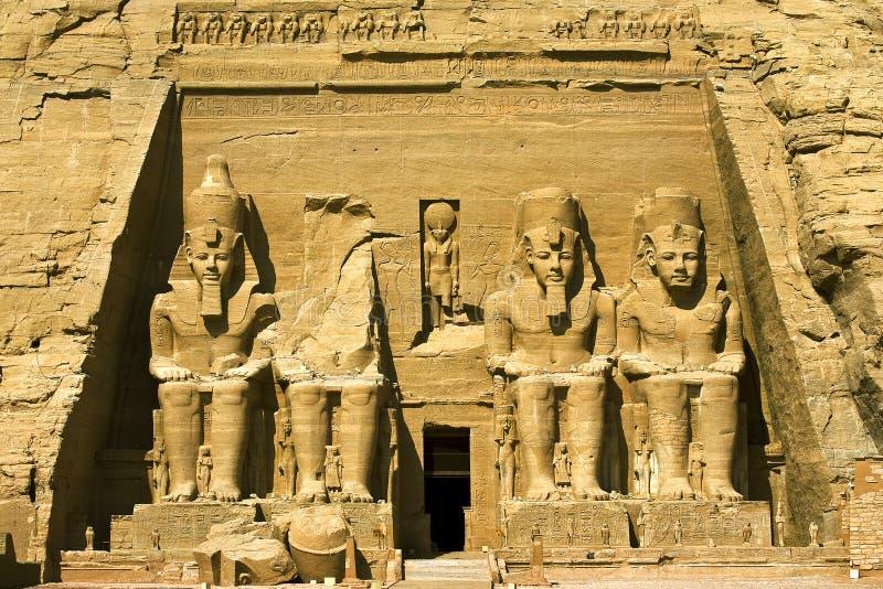 O grande templo em Abu Simbel fotografia de stock royalty free