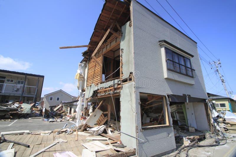 O grande terremoto do leste de Japão imagens de stock royalty free