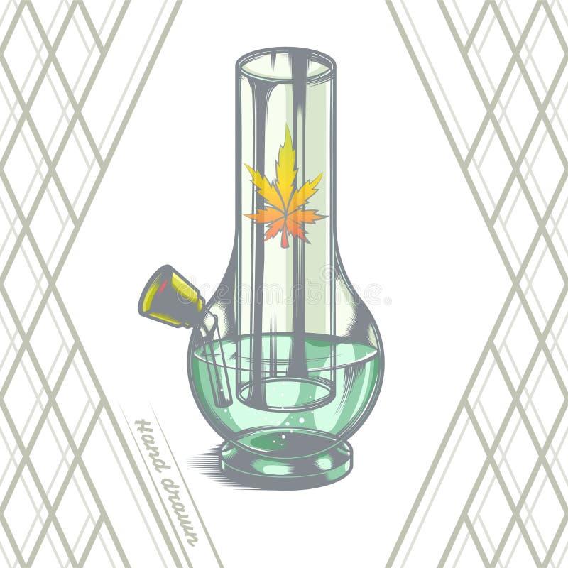 O grande vidro Bong ilustração do vetor