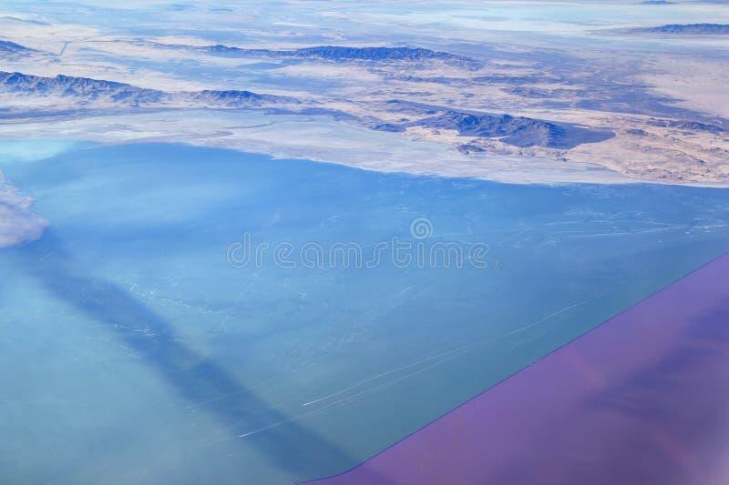 O Great Salt Lake, Utá imagens de stock