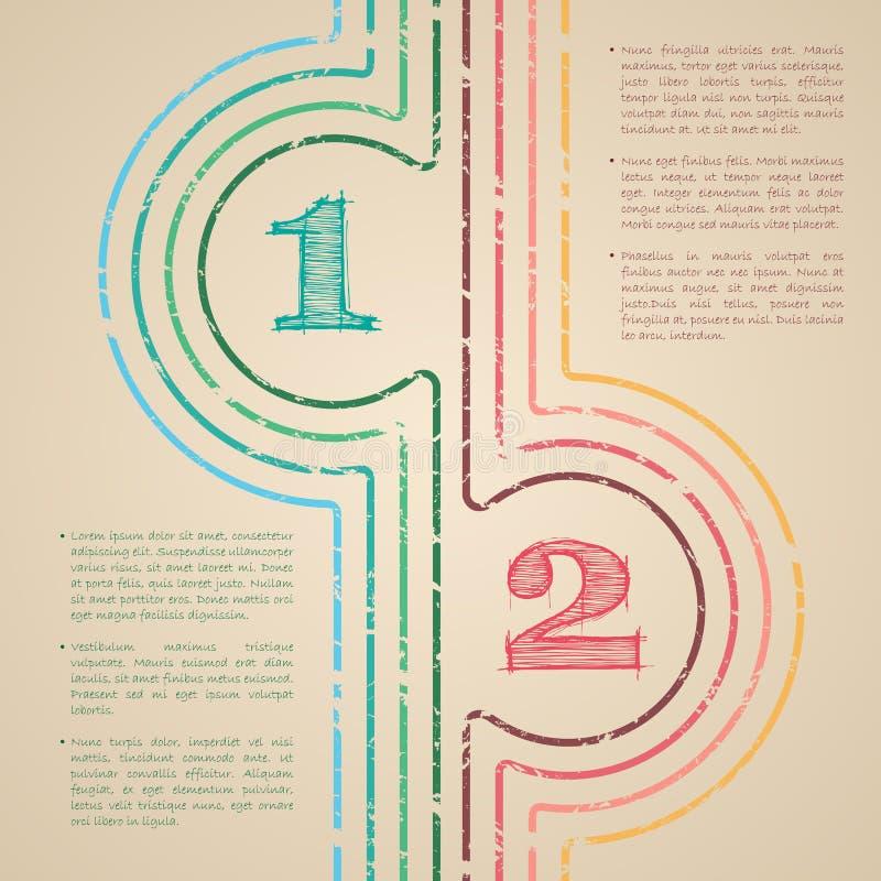 O grunge abstrato alinha o projeto infographic ilustração royalty free