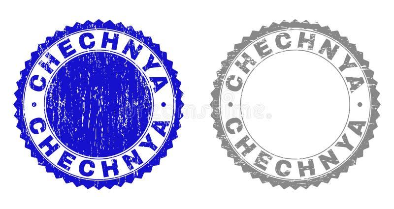 O Grunge CHECHNYA riscou selos ilustração do vetor