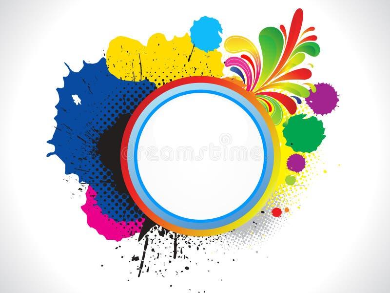 O grunge colorido abstrato baseou o fundo ilustração stock